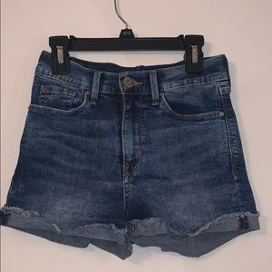 High rise stretchy Jean shorts